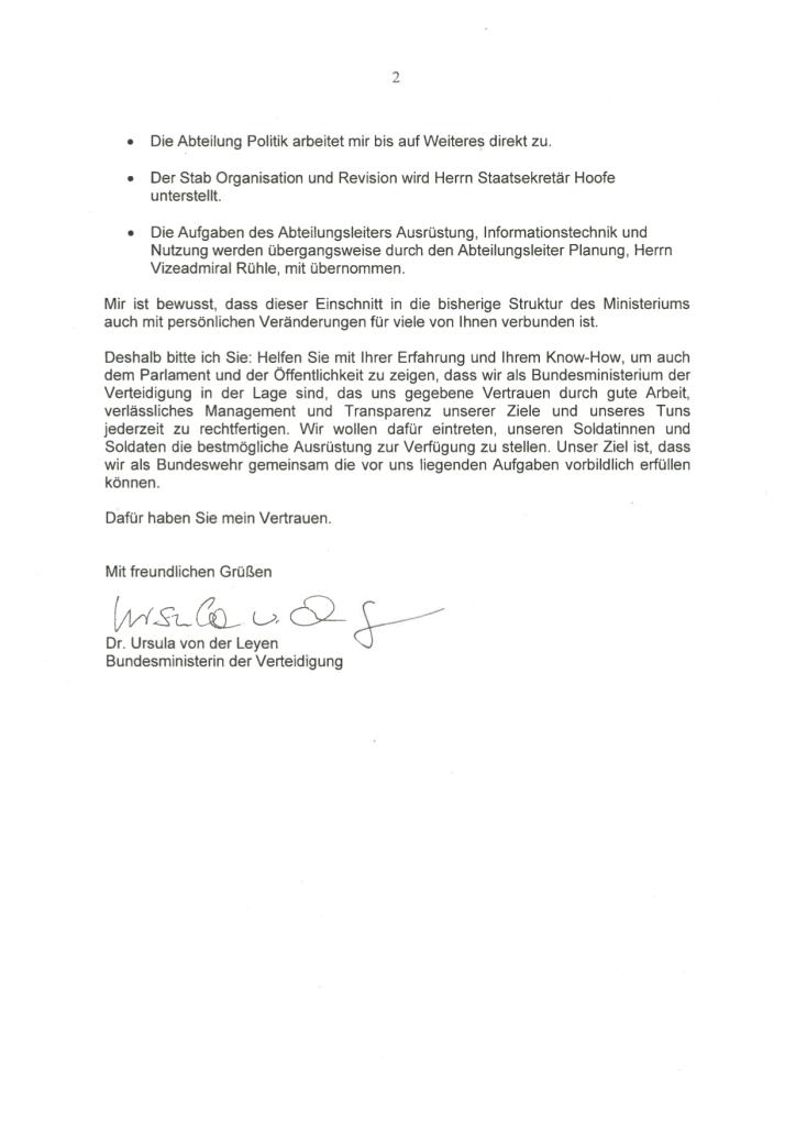 Mitarbeiterbrief Ursula von der Leyen2