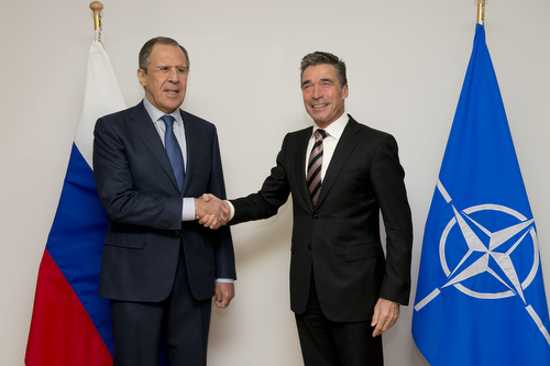 The Minister of Foreign Affairs of Russia visits NATO