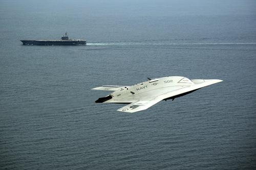 USS George H.W. Bush launches X-47B