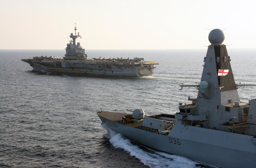 HMS DEFENDER JOINS FRENCH CARRIER ON DAESH OPERATIONS