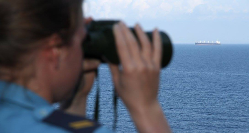 160227-DEUN-B-004 AEGEAN SEA - From the wing on the bridge of SNMG2 Flagship FGS BONN. February 27, 2016. The units of Standing NATO Maritime Group 2 (SNMG2) are patrolling as part of NATO's participation in the international efforts to cut the lines of illegal trafficking and illegal migration in the Aegean Sea. Credit: German Navy photo by Photographer PO2/OR-5 Steve Back (released) Ñ hier: Aegean Sea.