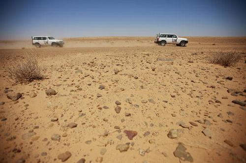 MINURSO Team Monitors Ceasefire in Western Sahara