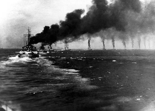 Hochseeflotte auf dem Weg zum SkagerrakA