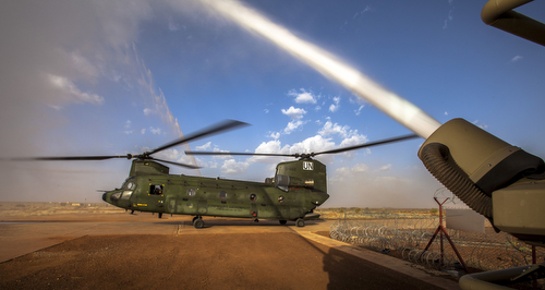 Gao , 26 september 2014, Aankomst chinooks