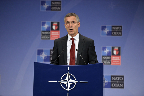 Pre-summit press conference by NATO Secretary General Jens Stoltenberg ahead of the NATO Summit in Warsaw on 8 and 9 July 2016