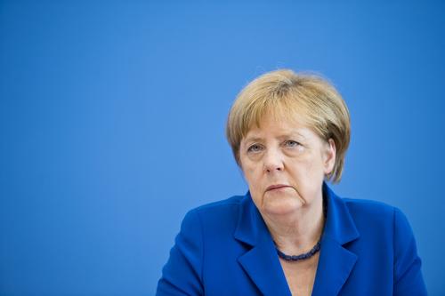 Angela Merkel in der Bundespressekonferenz