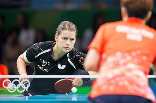 Tischtennisspielerin und Sportsoldatin Hauptgefreiter Petrissa Solja spielt im Viertelfinale beim Mannschaftstischtennis