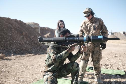 Ausbildung Peshmerga an der Panzerfaust bei Erbil, 29.11.2016 Moe Zoyari