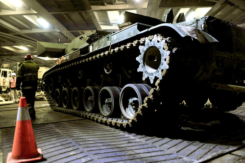 Tanks arrive in Germany to begin armor rotations