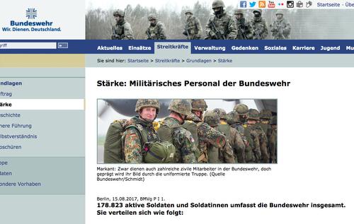 Spezialist für den öffentlichen Dienst - Segment Soldaten.